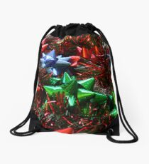 Christmas Bows Drawstring Bag