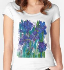 Blue Irises Fitted Scoop T-Shirt