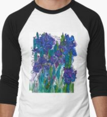 Blue Irises Baseball ¾ Sleeve T-Shirt