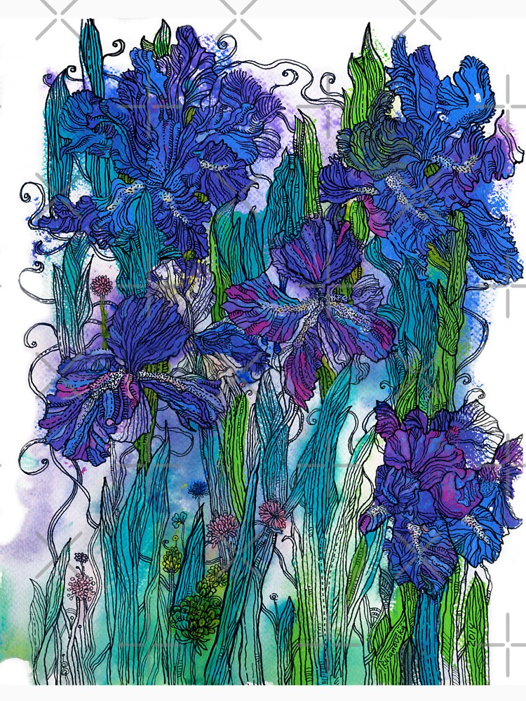 Blue Irises by rusanovska