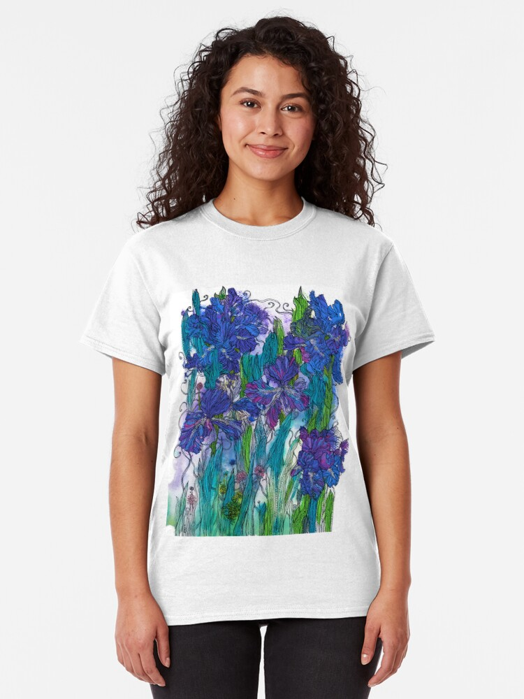 Alternate view of Blue Irises Classic T-Shirt