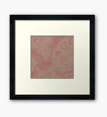 Warm Taupe Dusty Cedar Marble Framed Print