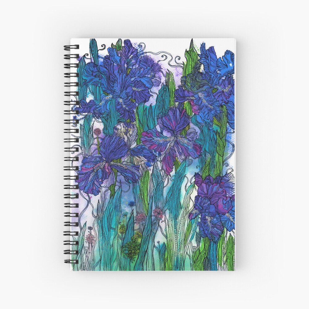 Blue Irises Spiral Notebook