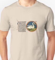 Medieval swan Camiseta unisex