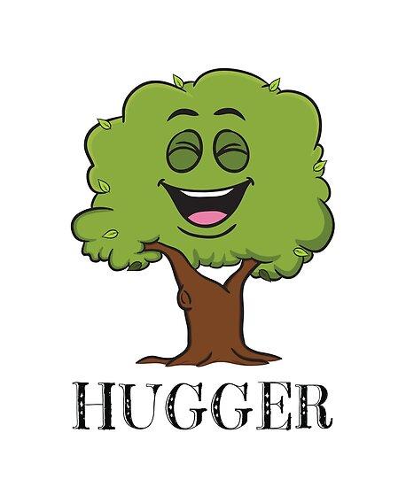 Tree Hugger Happy Tree Emoji Environmentalist T Shirt V 2 Posters