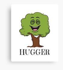 Tree Hugger Happy Tree Emoji Environmentalist T-Shirt V 2 Canvas Print