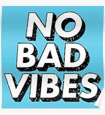 Retro No Bad Vibes Poster