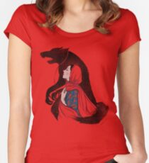 Taming of the wolf Women's Fitted Scoop T-Shirt