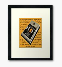 Remote Control Framed Print