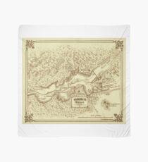 Vintage Yosemite Map 1870 Scarf