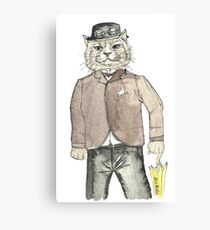 Gentleman Cat Canvas Print