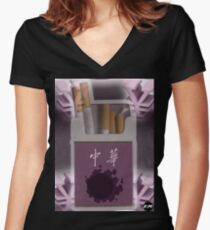 Pokemon Gastly Cigs Women's Fitted V-Neck T-Shirt