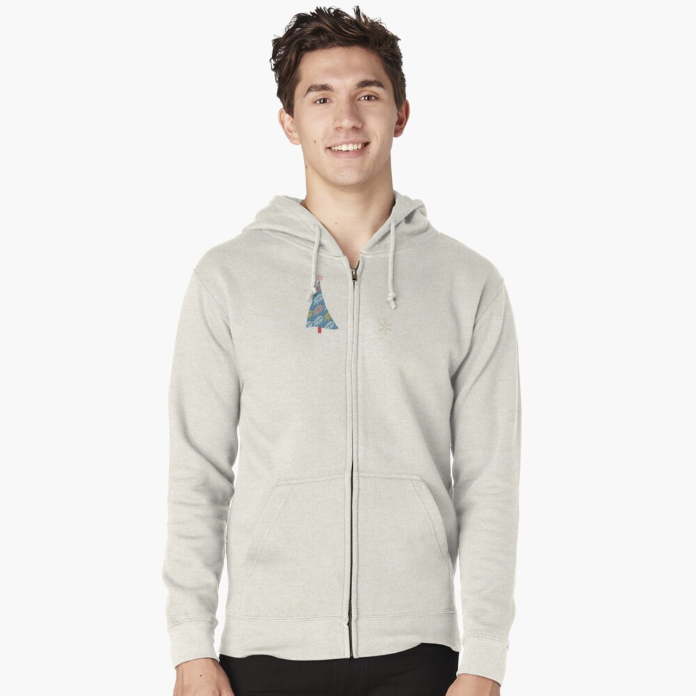 Happy Holidays! Zipped Hoodie