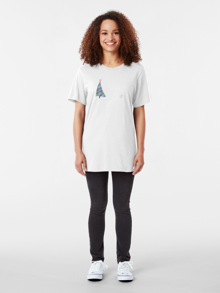 Alternate view of Happy Holidays! Slim Fit T-Shirt