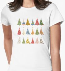 Christmas Trees Fitted T-Shirt