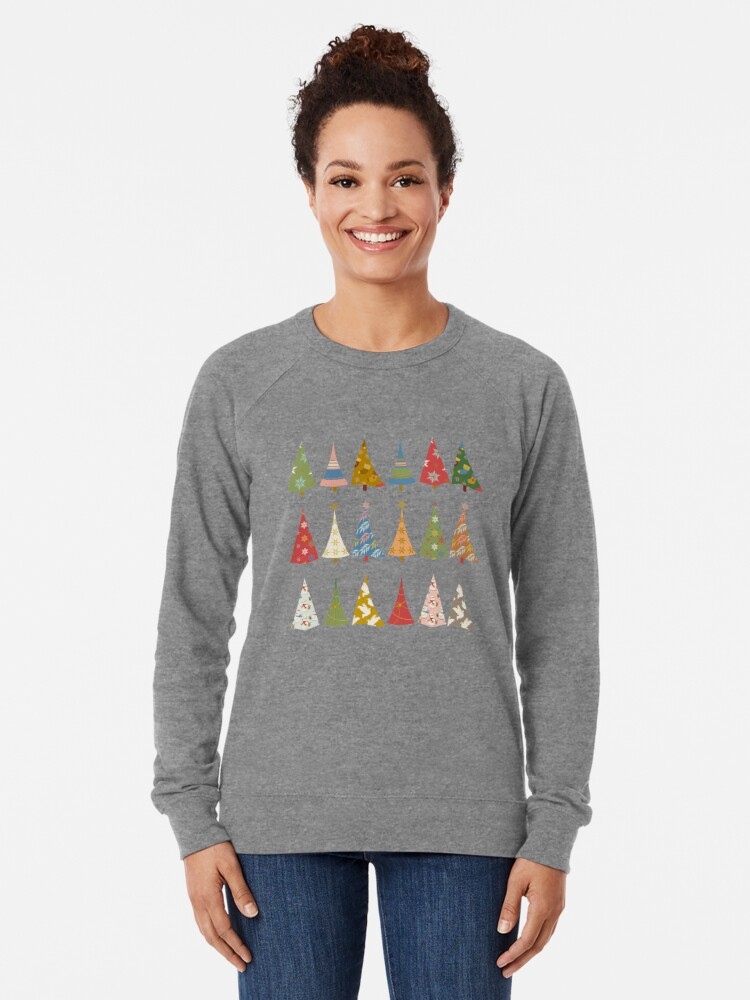 Alternate view of Christmas Trees Lightweight Sweatshirt
