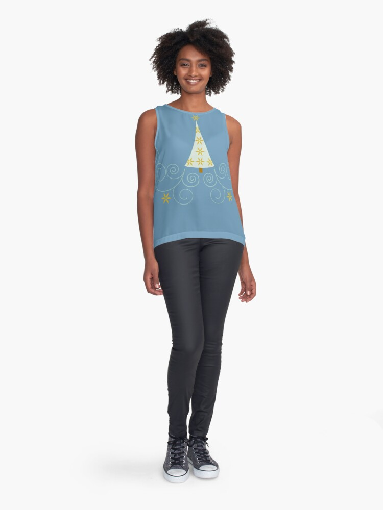 Alternate view of Holiday Greetings! Sleeveless Top