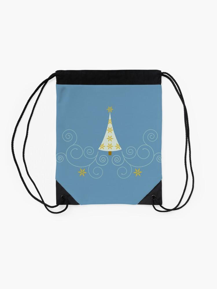 Alternate view of Holiday Greetings! Drawstring Bag