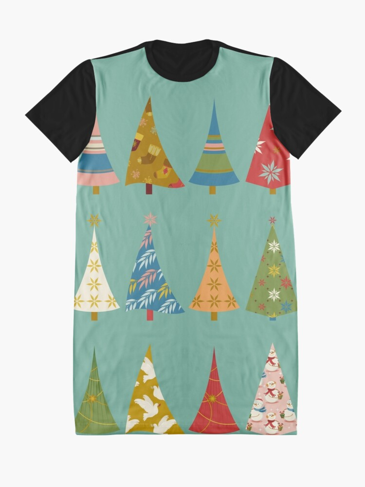 Alternate view of Christmas Trees Graphic T-Shirt Dress