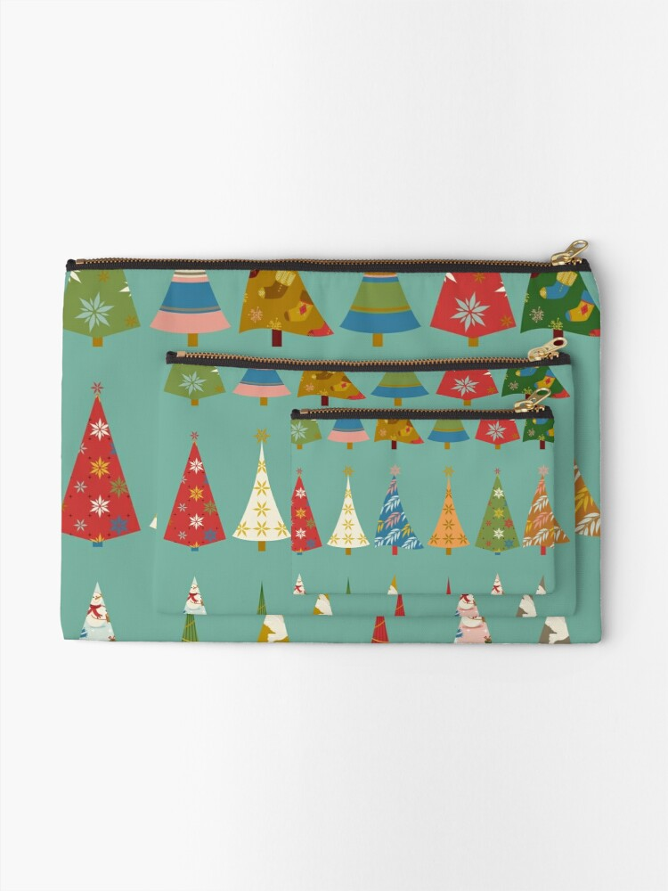 Alternate view of Christmas Trees Zipper Pouch