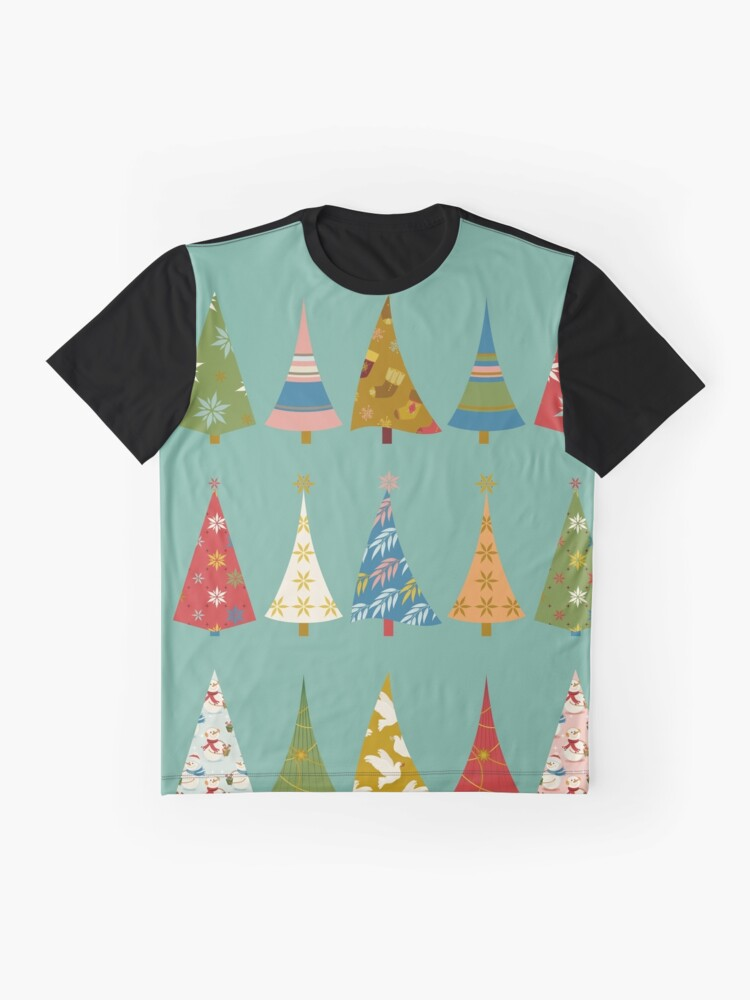 Alternate view of Christmas Trees Graphic T-Shirt