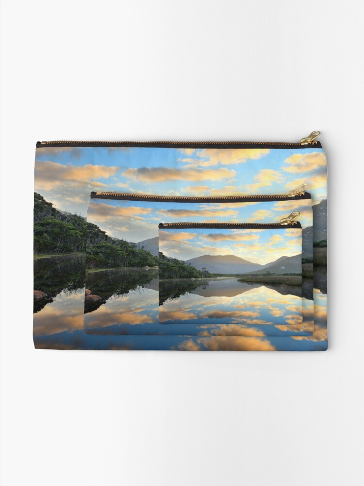 Alternate view of Tidal River Awakens, Wilsons Promontory, Victoria, Australia Zipper Pouch