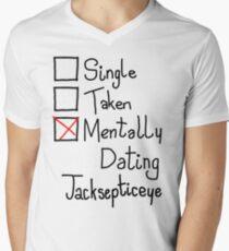 Mentally Dating Jacksepticeye Men's V-Neck T-Shirt