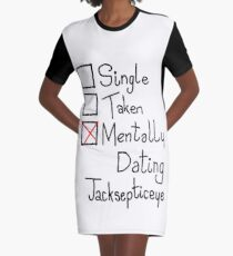 Mentally Dating Jacksepticeye Graphic T-Shirt Dress