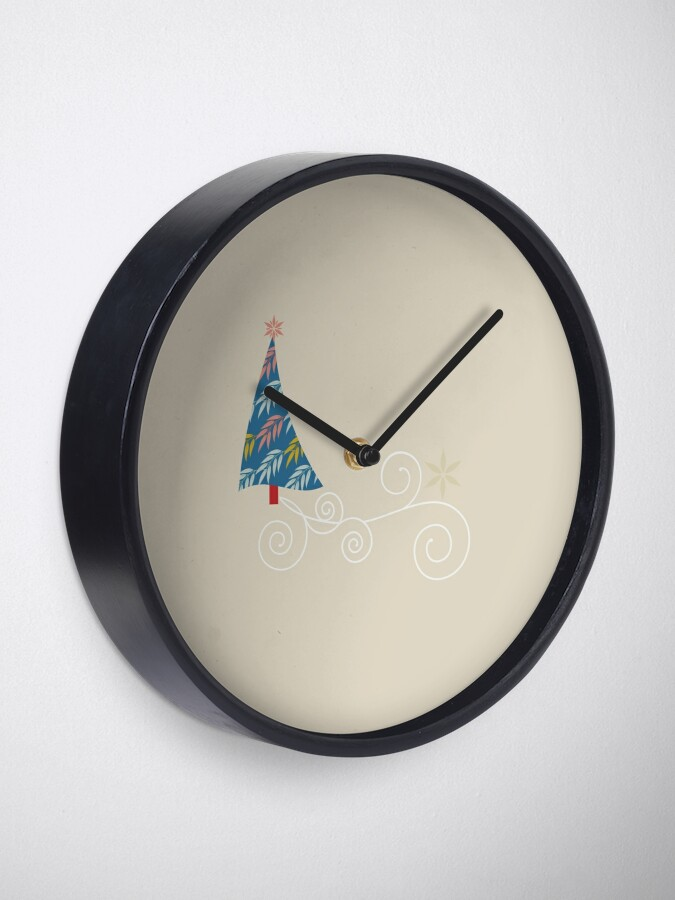 Alternate view of Happy Holidays! Clock