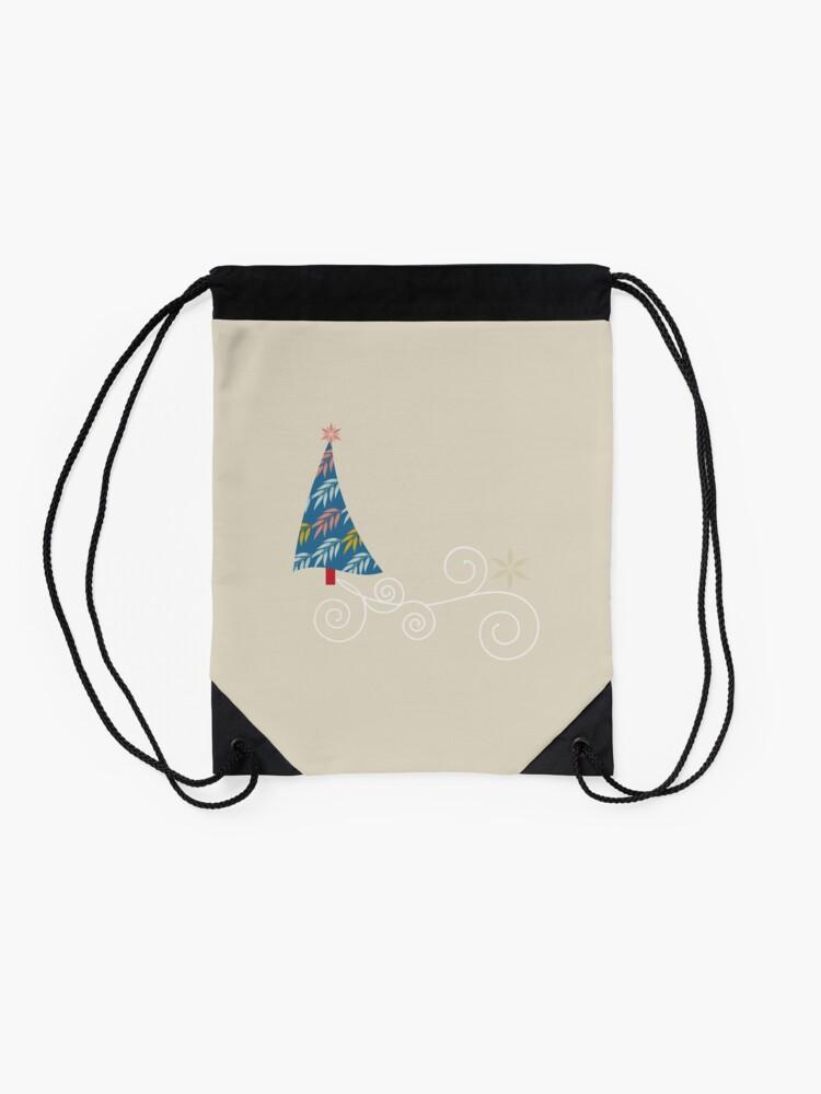 Alternate view of Happy Holidays! Drawstring Bag