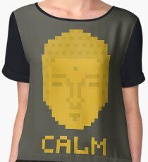 Calm pixel art buddha Chiffon Top