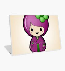Mangosteen Kokeshi Doll Laptop Skin