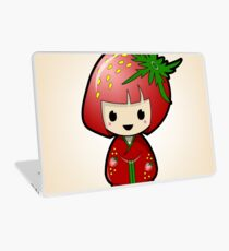 Strawberry Kokeshi Doll Laptop Skin