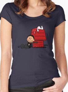 Negan Brown Women's Fitted Scoop T-Shirt
