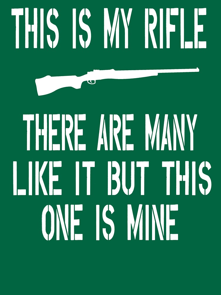 Full Metal Jacket Quote This Is My Rifle Unisex T Shirt By Movie