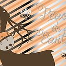 Holiday Deer Silhouette  by peacockcards