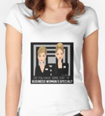 Romy & Michele - Business Women Women's Fitted Scoop T-Shirt