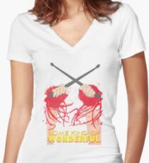 Some Kind of Wonderful Watts Women's Fitted V-Neck T-Shirt
