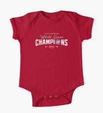 Chicago Cubs Champions 2 One Piece - Short Sleeve