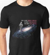 Camiseta unisex Albert Einstein La vida es como andar en bicicleta