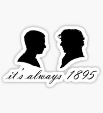 Sherlock and John Silhouettes Sticker