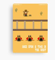 Once Upon a Time in the West- 8 bit Canvas Print