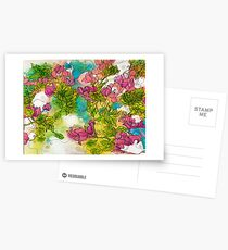 Tropical Flowers Postcards