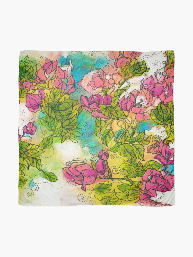Alternate view of Tropical Flowers Scarf