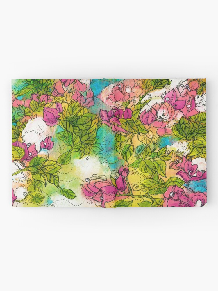 Alternate view of Tropical Flowers Hardcover Journal