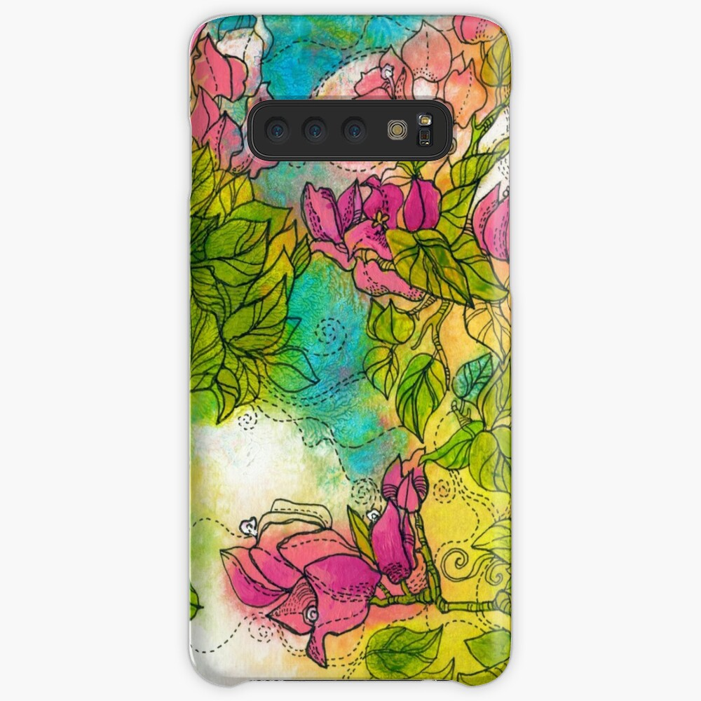 Tropical Flowers Case & Skin for Samsung Galaxy