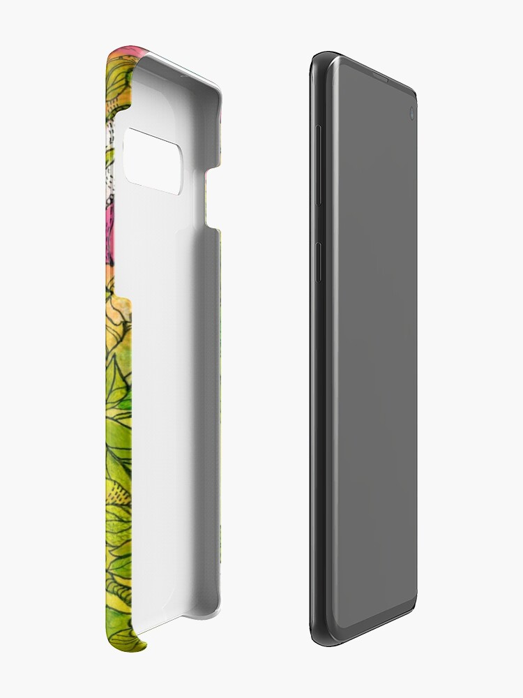 Alternate view of Tropical Flowers Case & Skin for Samsung Galaxy