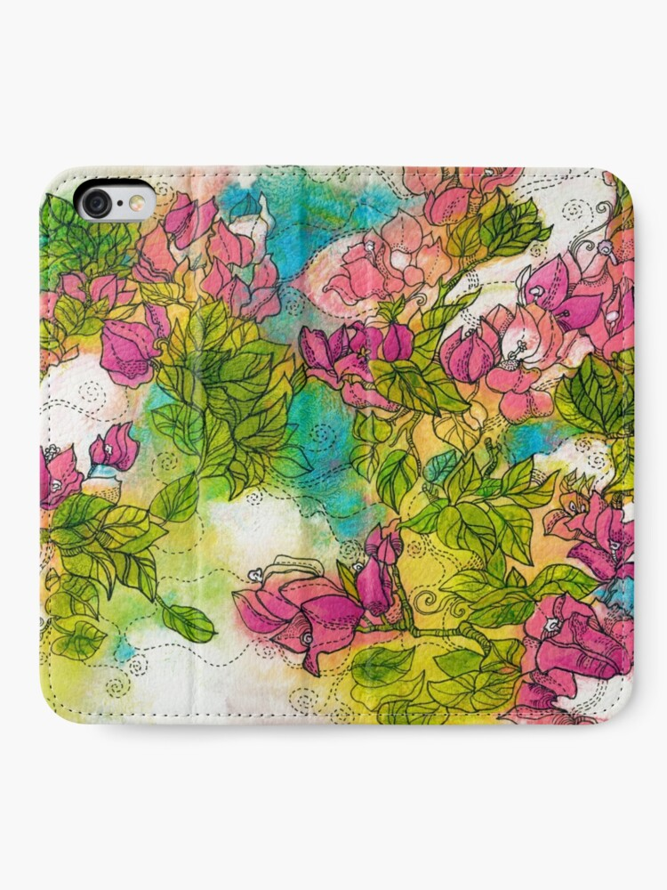 Alternate view of Tropical Flowers iPhone Wallet