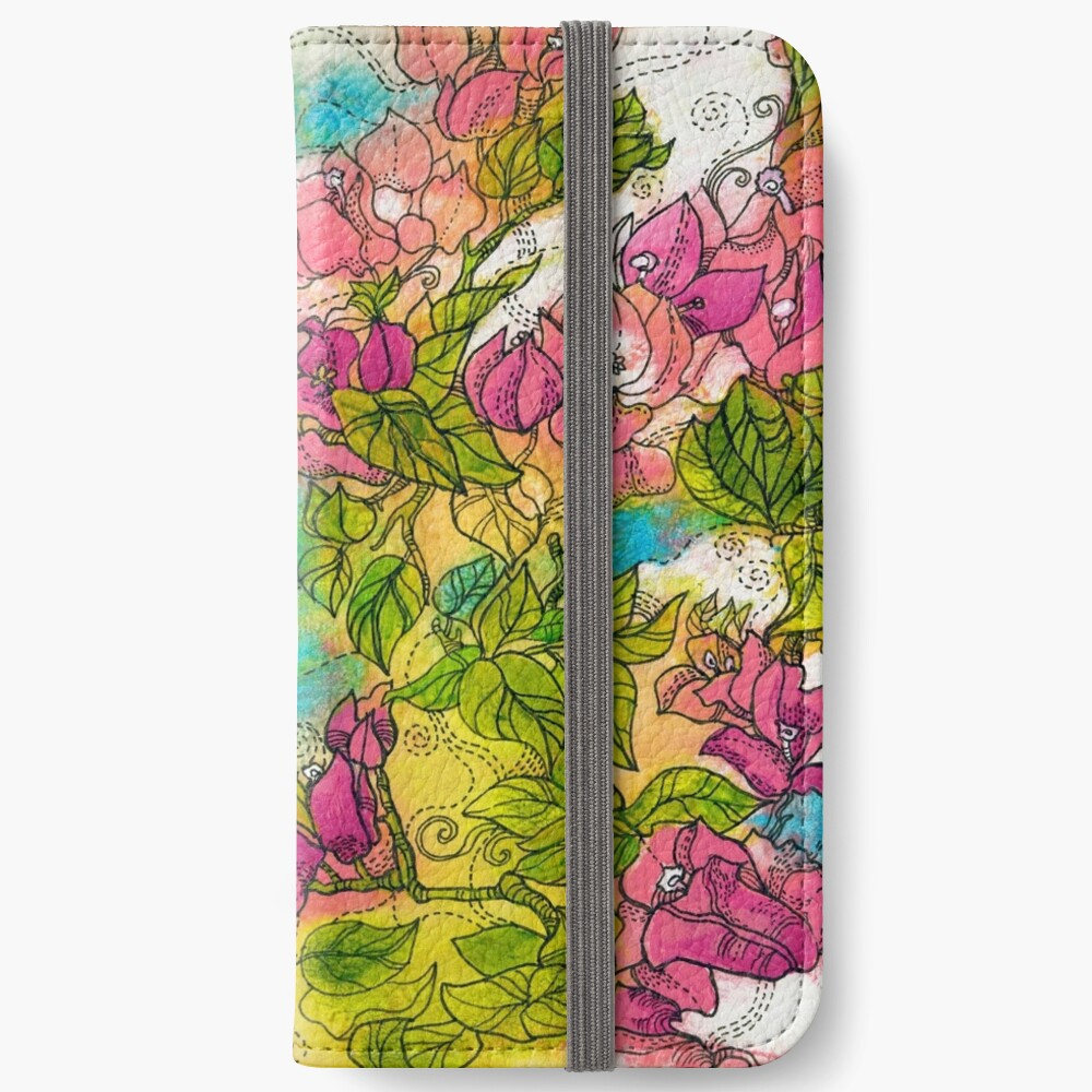 Tropical Flowers iPhone Wallet