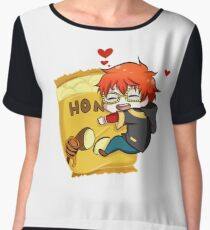 Seven and Honey Buddha Chips  Chiffon Top